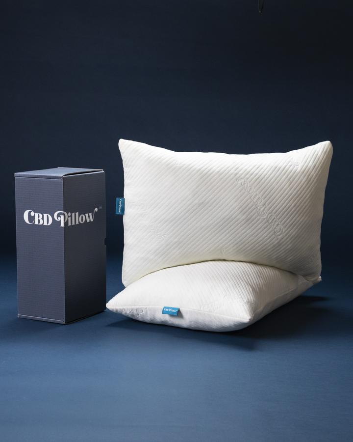 Two CBD pillows one on top of the other