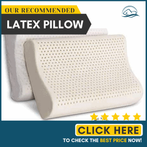 100% Organic Latex Contour Pillow for Neck Pain