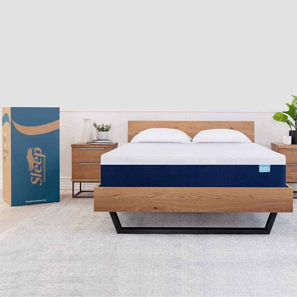 a shiloh king 12 mattress on a bed